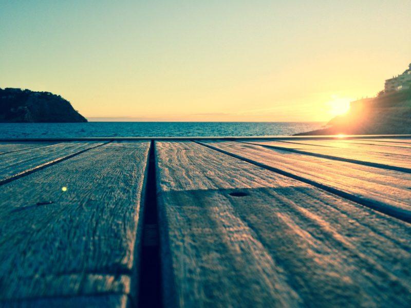 Texterin in Urlaub: Sonnenuntergang auf Mallorca