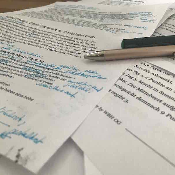 Textüberarbeitung ist Teil im Schreibprozess