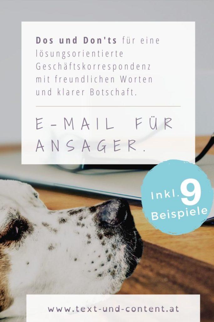 Dos and Don'ts zur lösungsorientierten E-Mail schreiben. Für eine Geschäftskorrespondenz mit freundlichen Worten und klarer Botschaft.